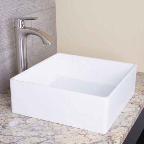 Vigo Dianthus Matte Stone Vessel Sink, White Products Pinterest