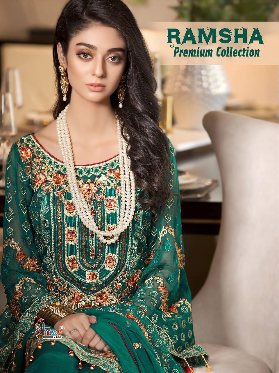 83d806d312 Shree Fab Ramsha Premium Collection (6 Pc Set) | Pakistani Suit ...