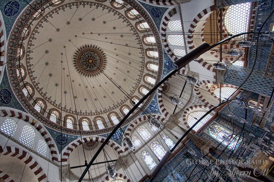 I didn't get to Istanbul when I was in Turkey, though I long to return. If I do, I definitely won't miss this: Rustem Pasha Mosque in Istanbul. Beautiful image from Sherry Ott.