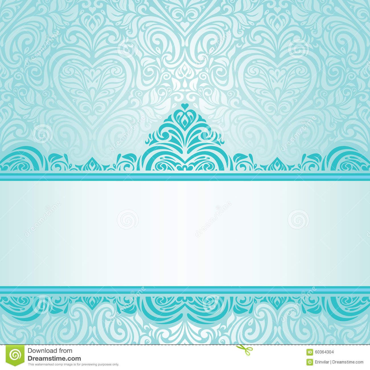 Turquoise Blue Wedding Invitation Background Matik For Bautizo