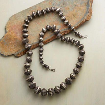Vintage Navajo Bead Necklace - Navajo silversmith Virginia ...
