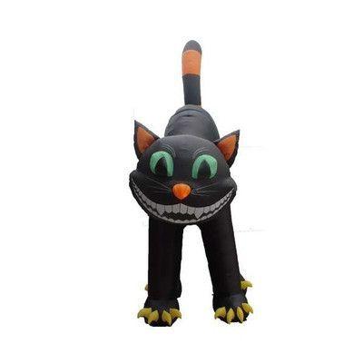 BZB Goods Halloween Inflatable Animated Huge Black Cat Decoration - halloween inflatable decorations