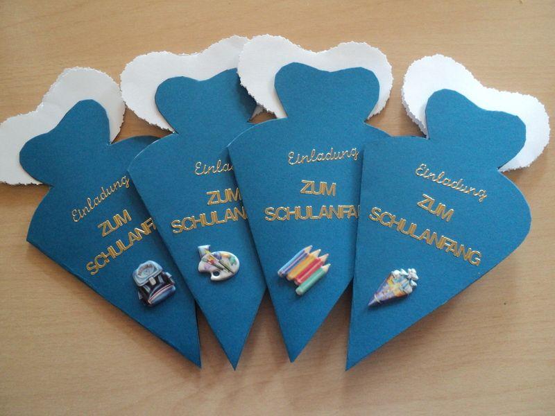 4 st einladungskarten/einschulung/schulanfang | einladungskarten, Einladung