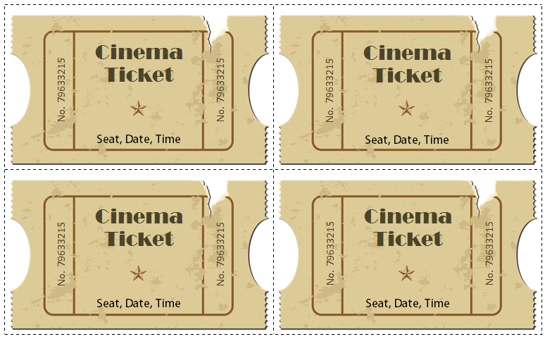 6 Movie Ticket Templates To Design Customized Tickets Movie Ticket Template Free Movie Tickets Ticket Template