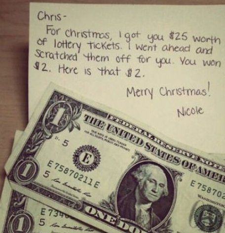 Lottery Ticket Christmas Gift - www.meme-lol.com | LMAO ...