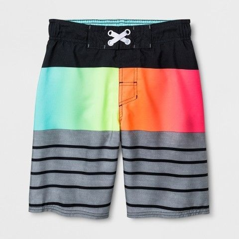 d86a7072fe Boys' Prism Stripe Swim Trunks - Cat & Jack™ XL | Products | Swim ...