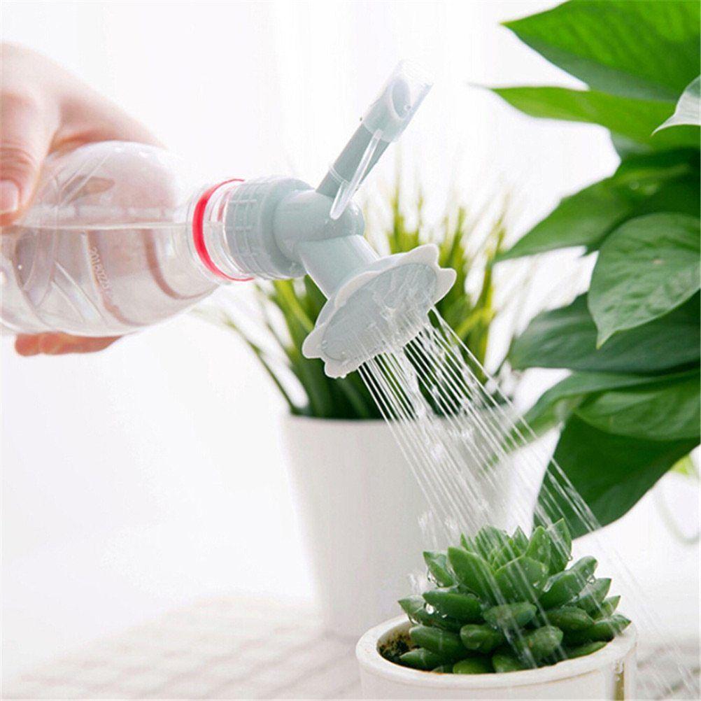 1pc 2 In 1 Plastic Sprinkler Nozzle Waterers Bottle For Flower Indoor Vegetation Watering Cans Sprinkler Bathe Head B Garden Tools Sprinkler Plant Watering Can
