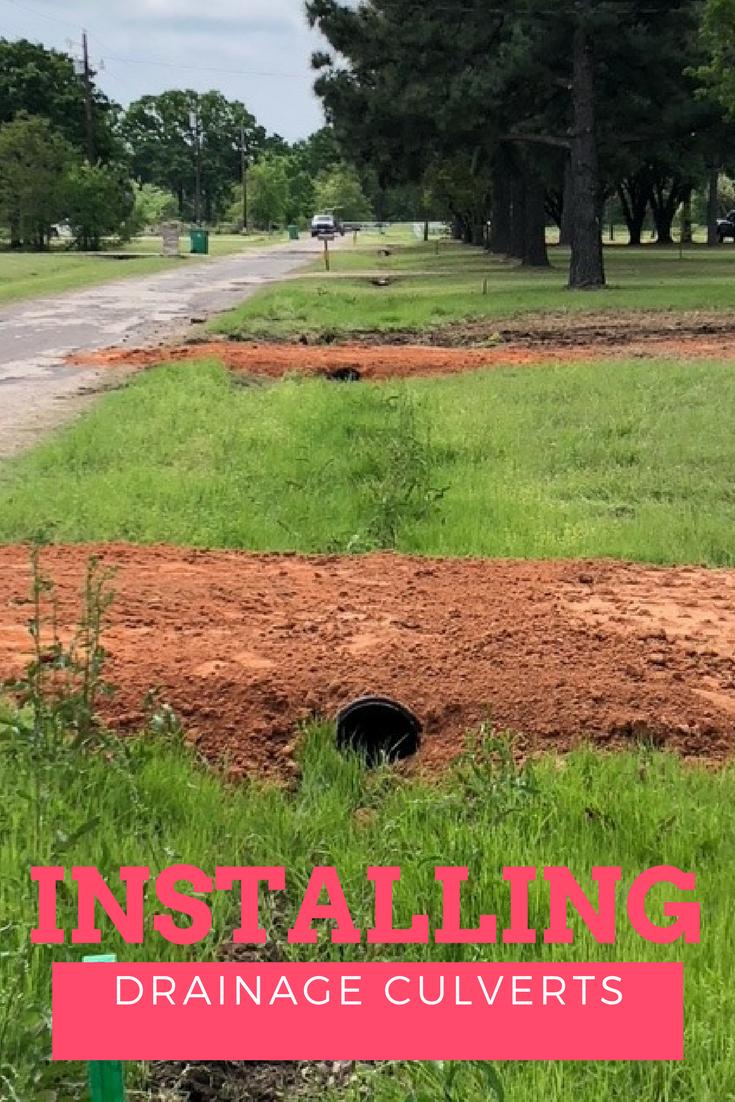 Installing Drainage Culverts Culvert Installation Drainage