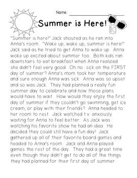 44+ Reading worksheets about summer Popular