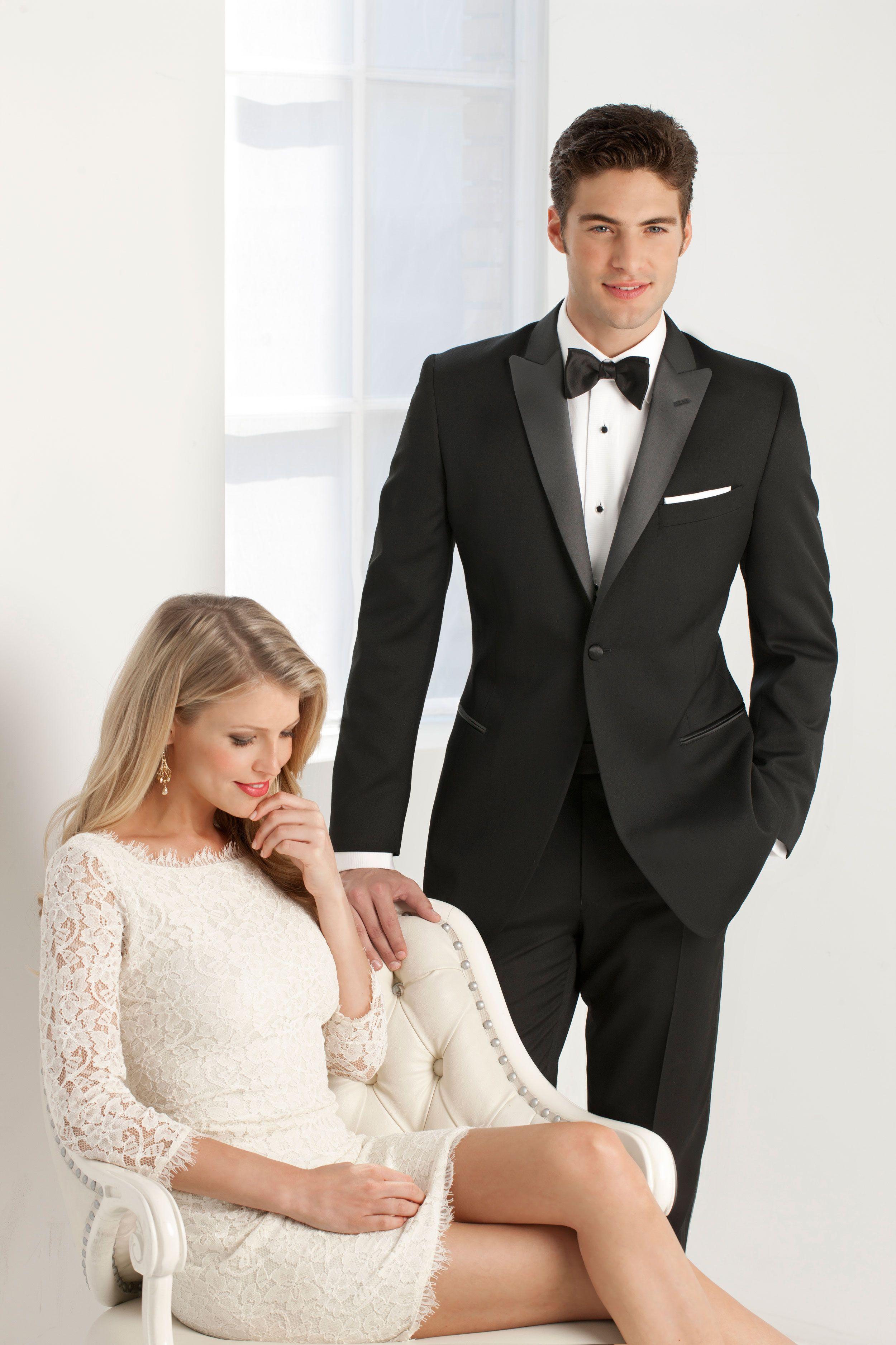 Ike Behar 1 Button Peak - Style #190 Black Tie Formalwear | For ...