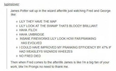 James was probably proud of Fred and George