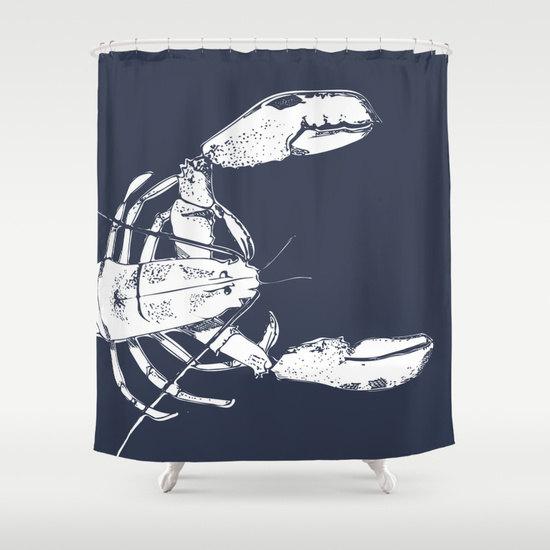 45 Colors Nautical Shower Curtain Lobster Navy Decor Bathroom Ocean Choose Color