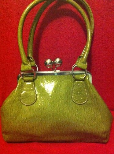 Green Per Una Spot Frame Bag M And S Clasp Fastening Over Shoulder Handbag