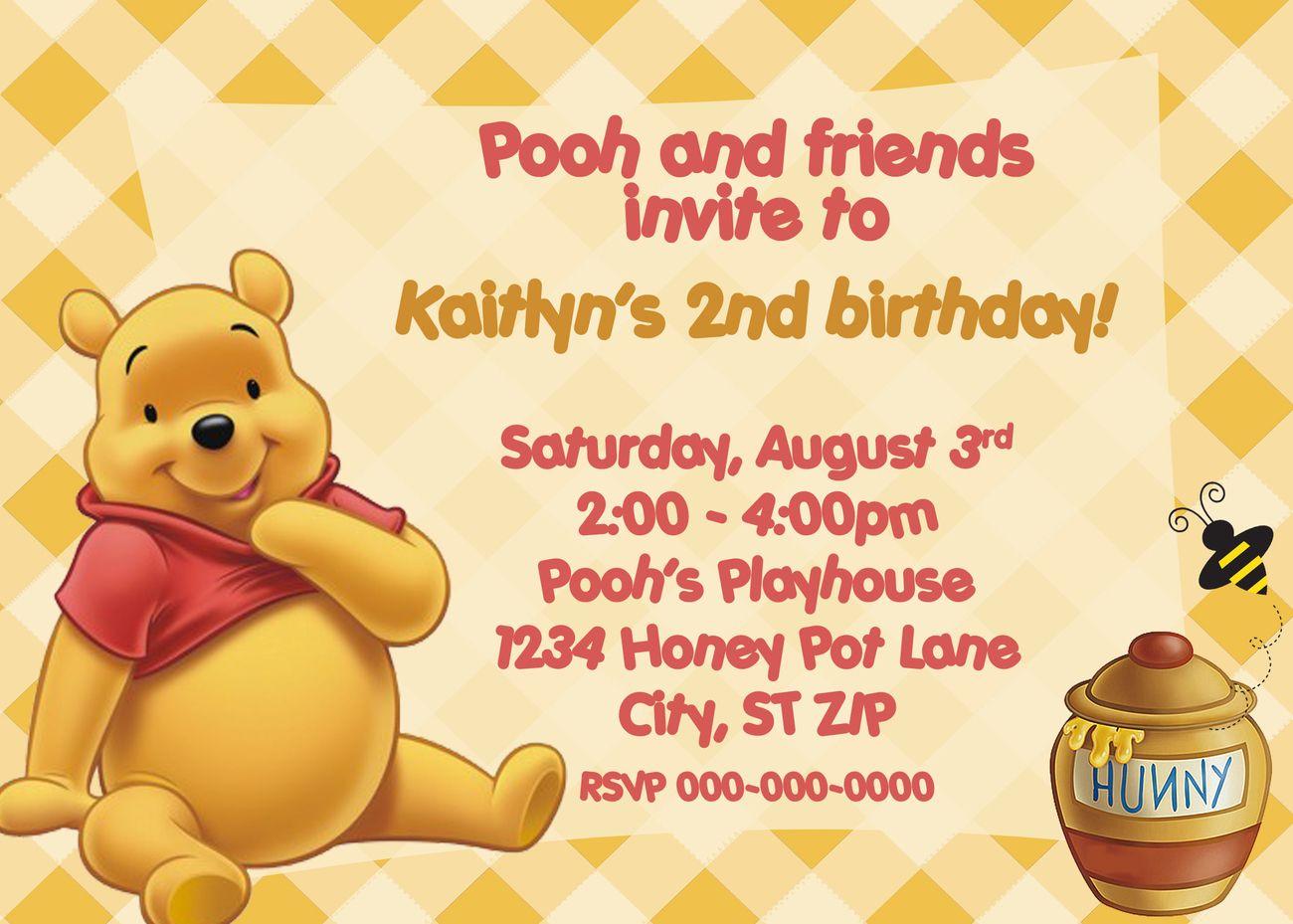 Resultado de imagen para tigger birthday invitations hd | Winnie The ...