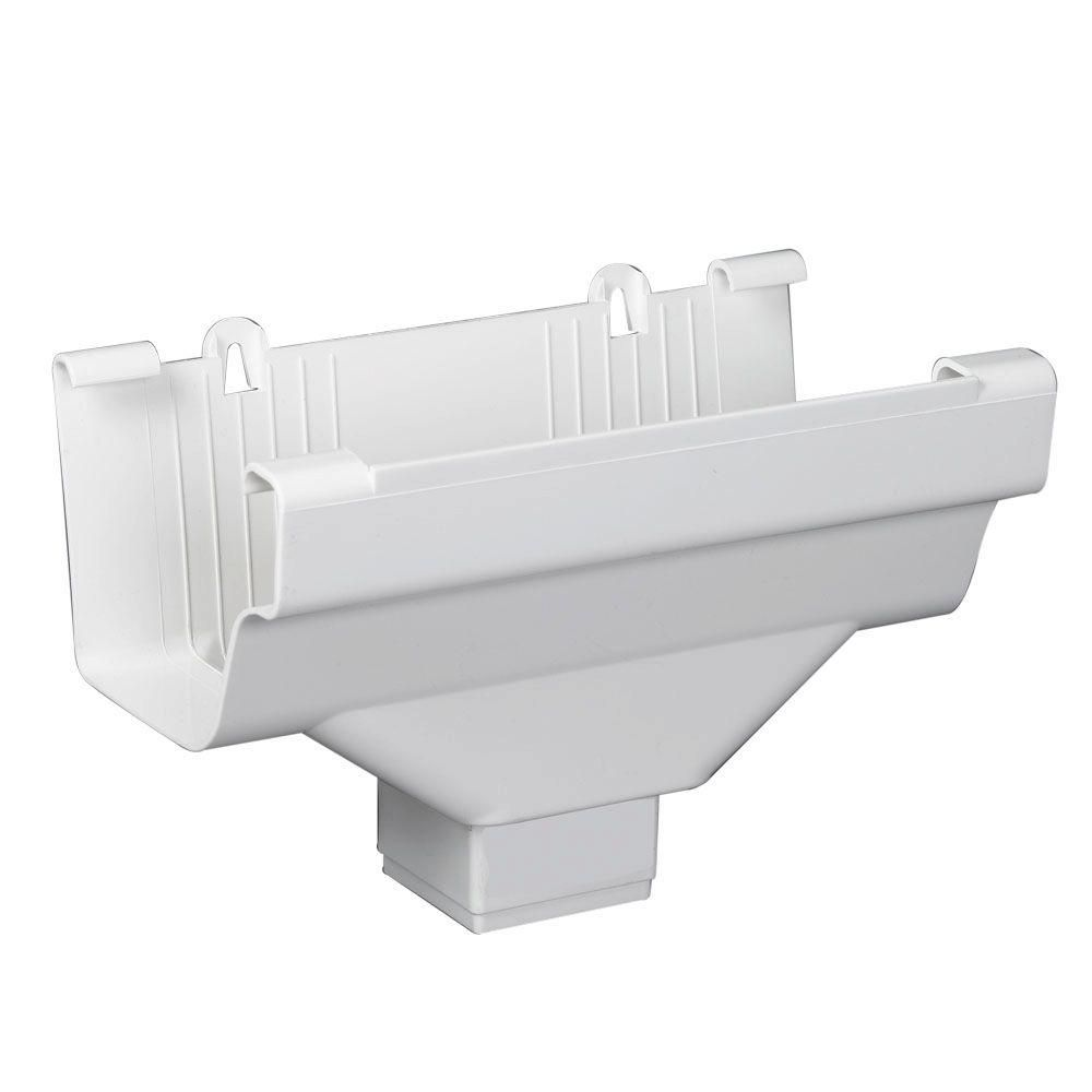 Amerimax Home Products White Vinyl K Style Drop Outlet In 2020 White Vinyl Gutter Vinyl Gutter