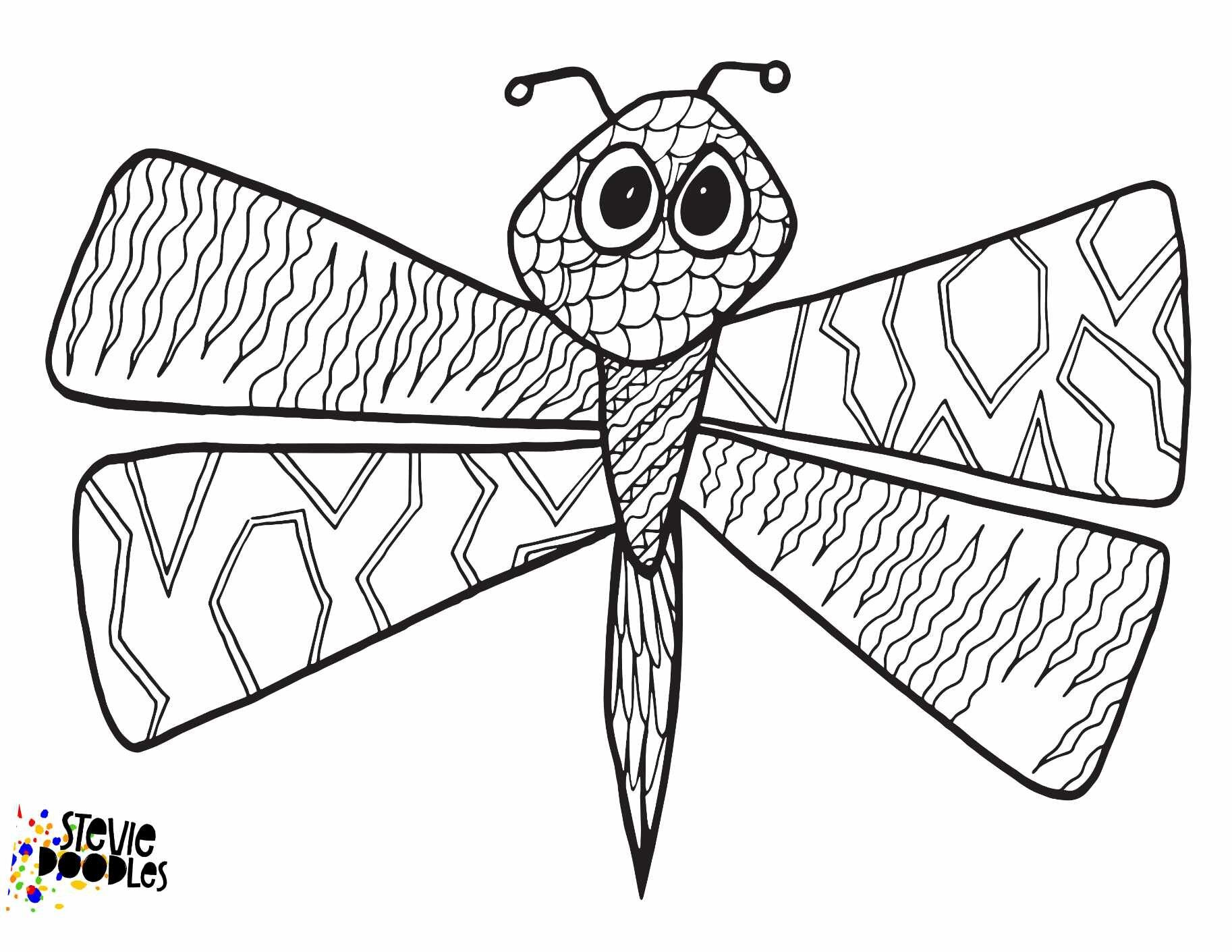 Dragonfly coloring page Royalty Free Vector Image | 1411x1826