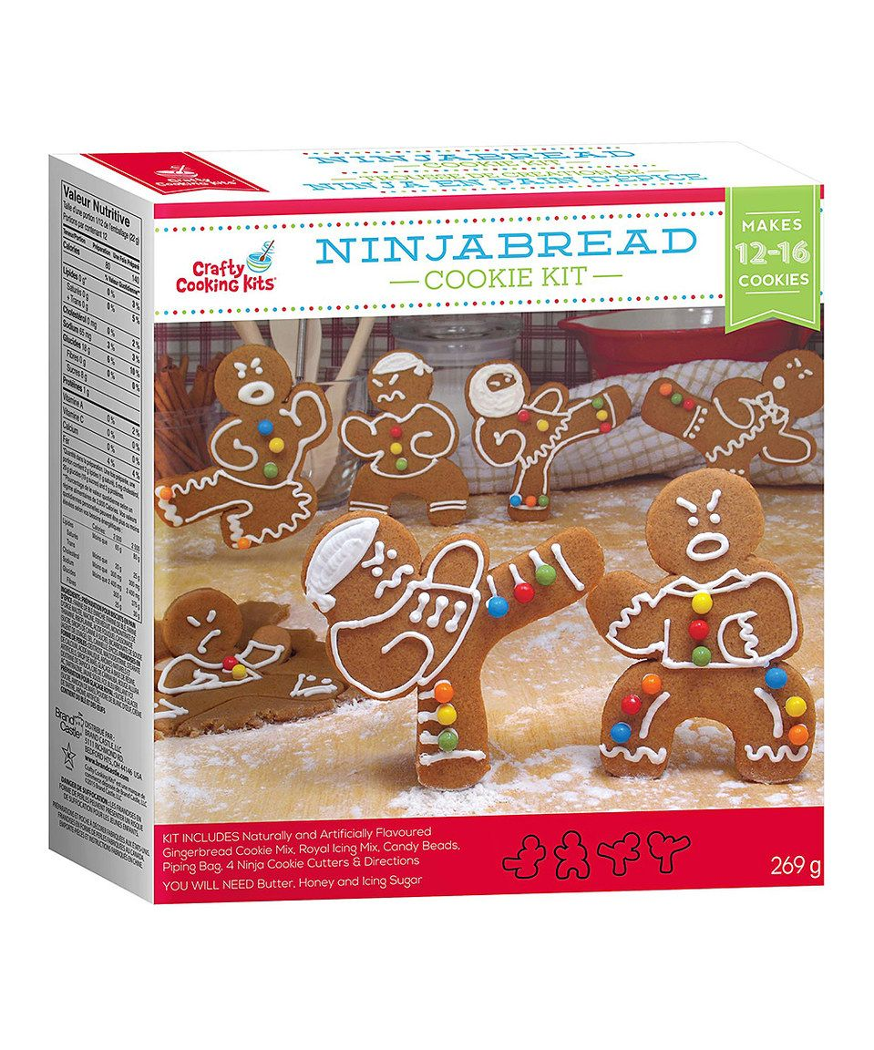 This Gingerbread Ninja Cookie Kit by Brand Castle is