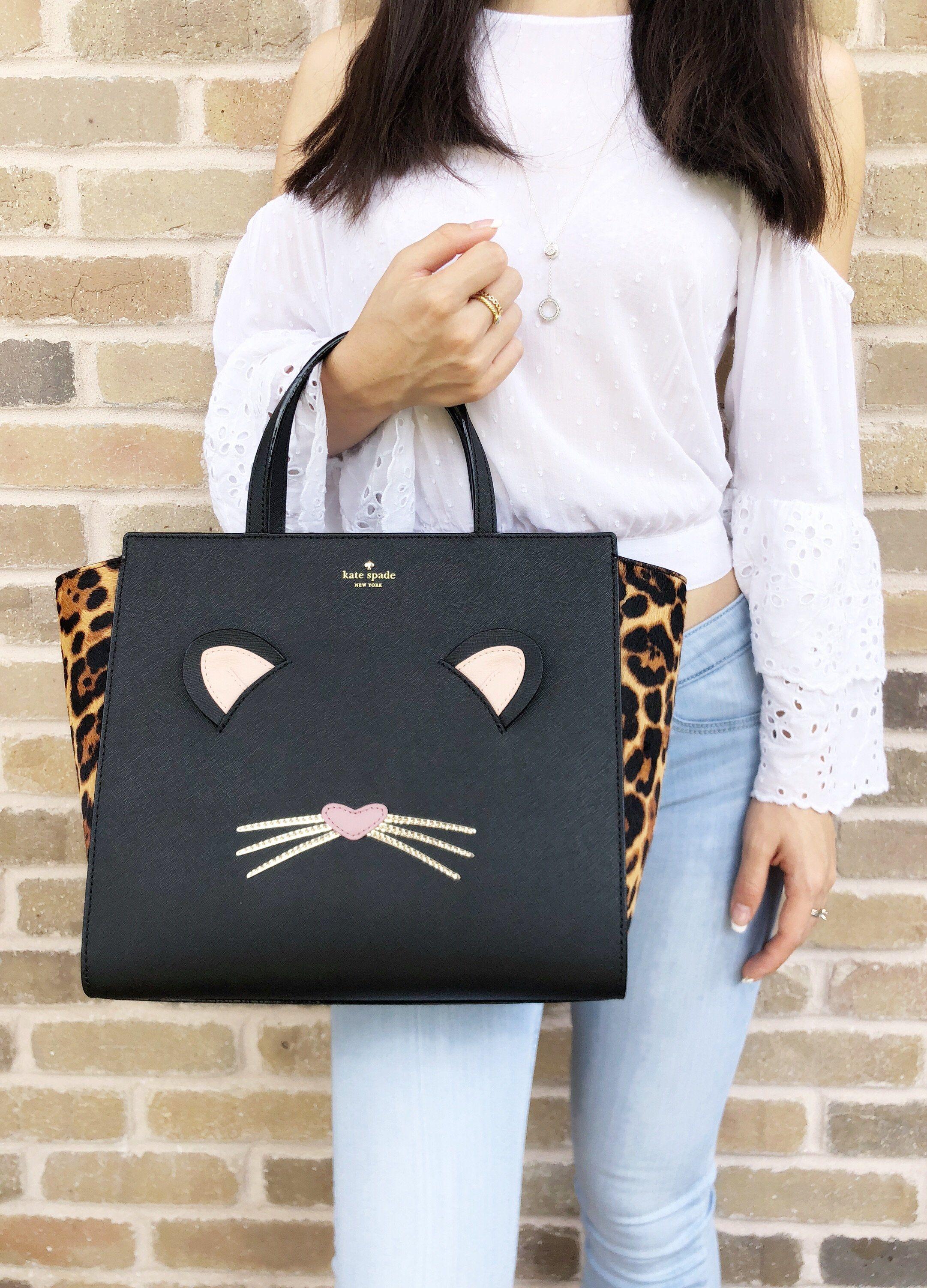 66eb095c2c55 Kate spade Leopard Hayden Run Wild Cat Large Satchel Bag Crossbody #Handbags  #GabysBags