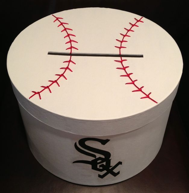 Hand Painted Baseball Card Box With Team Logo