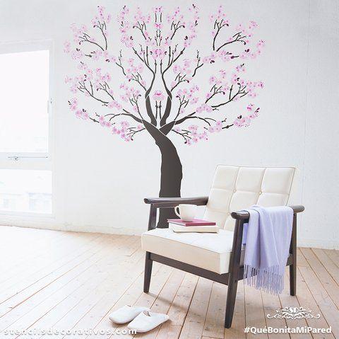 Stencil plantilla para pintar arboles bonito - Plantillas de letras para pintar paredes ...