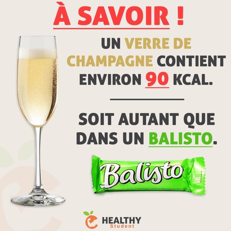 champagne kcal