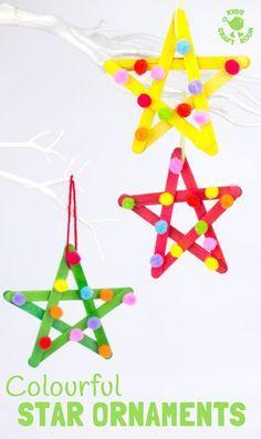 Star Ornaments Xristoygenniatika Christmas Crafts Christmas Christmas Crafts For Kids To Make