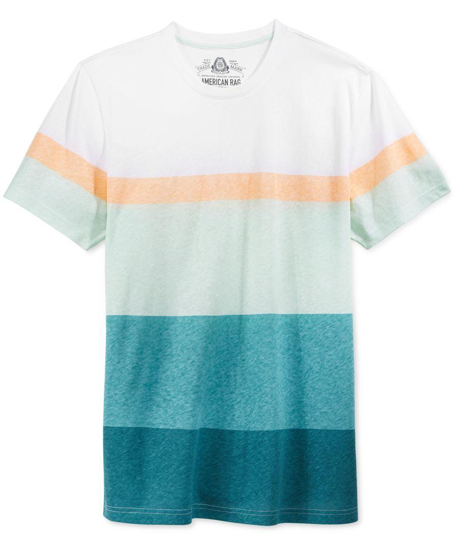 American Rag Men's Bold Stripe T-Shirt, Only at Macy's