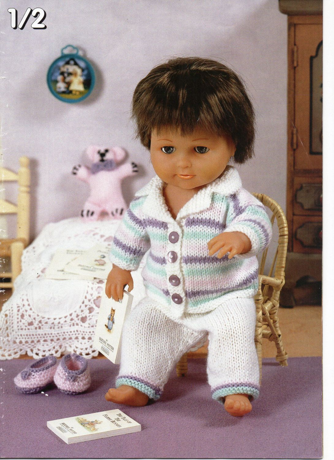 Baby Dolls Clothes Knitting Pattern Dolls Pyjamas Slippers Teddy Baby Reborn Boy Doll 12 22 Inch Doll Dk Bab Knitting Dolls Clothes Baby Knitting Doll Clothes