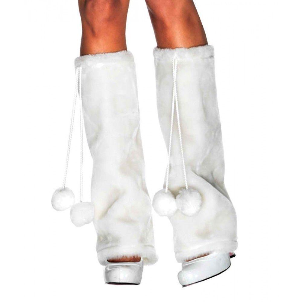 Furry Leg Warmers White $19.95 #firtla #edm #rave #ravewear #cute #snow #pure #angel #warm #whitewonderland