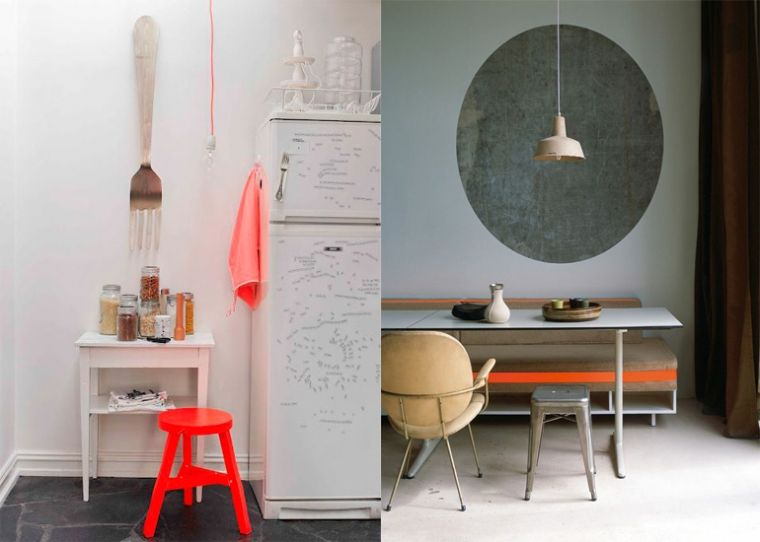8x Minimalistische Werkplek : Neon oranje in huis kitchens diningrooms kitchen