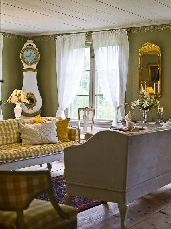 Gustavian Swedish Style Gingham More Schwedische Wohnkultur