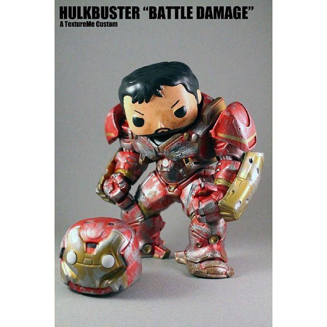 Custom Battle Damaged Hulkbuster Pop Originalfunko Funko Popvinyl Marvel Hulkbus Oninstagram Custom Funko Pop Custom Pop Vinyl Funko Pop Vinyl