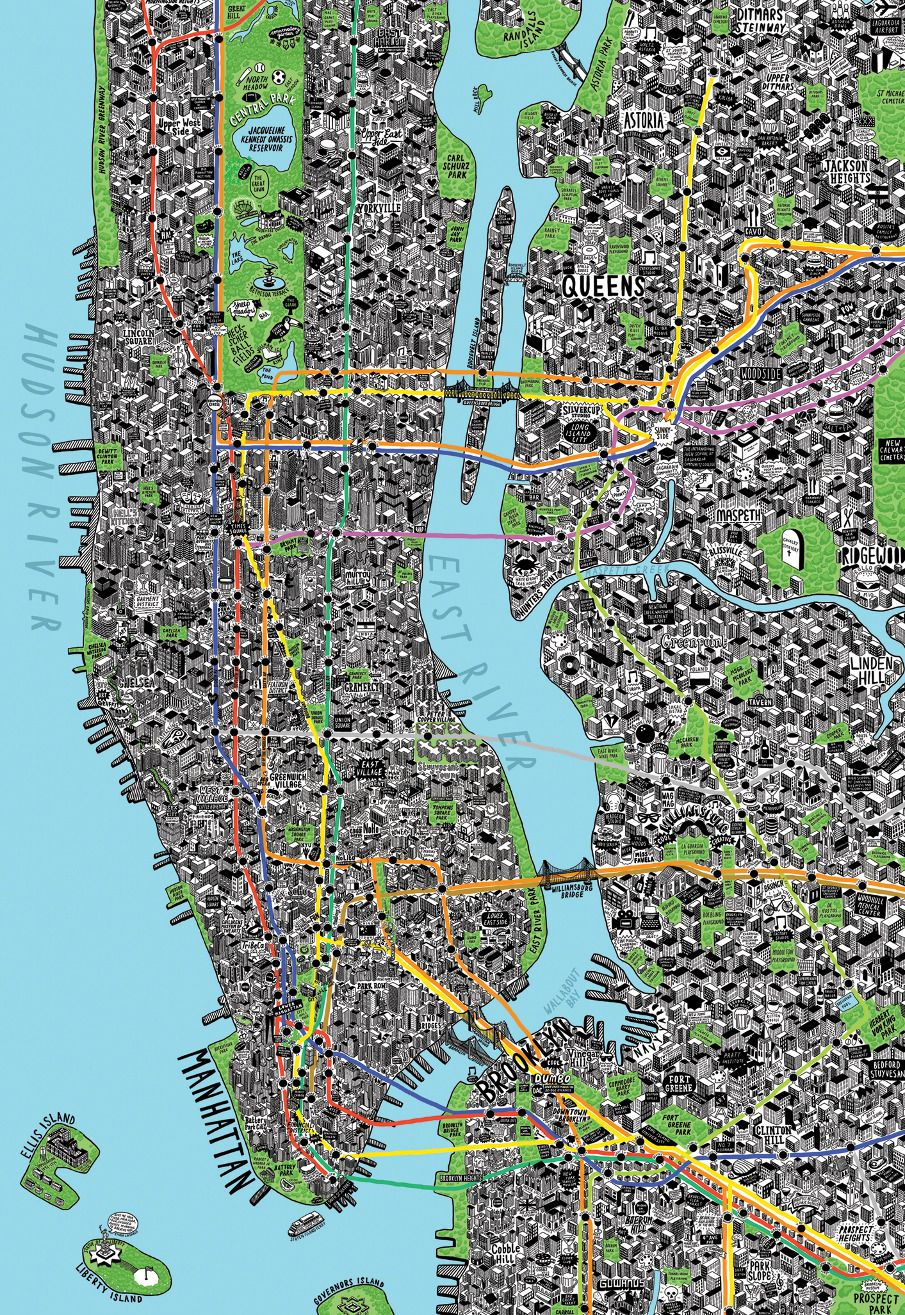 Hand drawn map of new york by jenni sparks new york metropolitan hand drawn map of new york by jenni sparks publicscrutiny Images