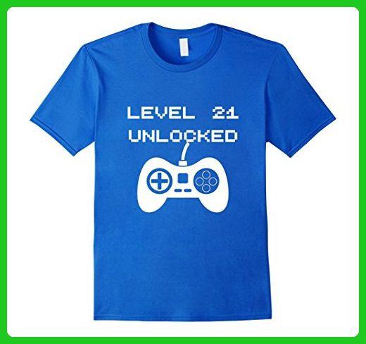Mens Level 21 Unlocked Gaming T Shirt