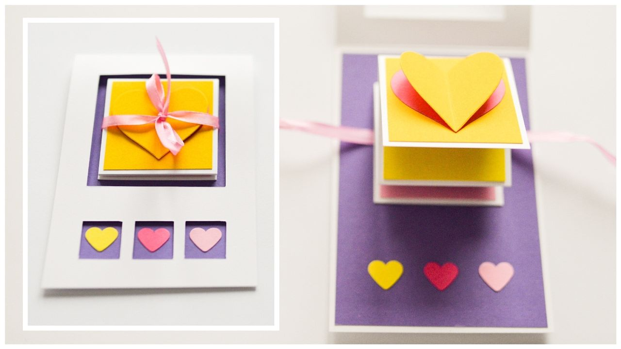 How to make pop up greeting card valentines day hearts step how to make pop up greeting card valentines day hearts step by step kristyandbryce Choice Image