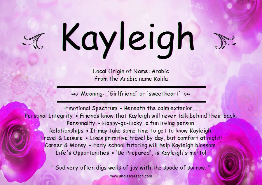 Kayleigh Name Meaning | Like Us On Facebook | diaper cakes