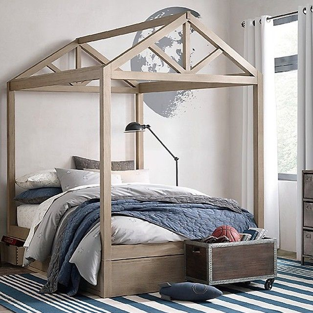 House Bed Frame For Full Queen Sized Bed Via Bestkiddos