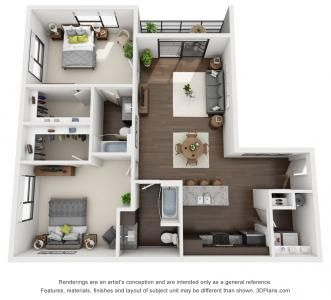 2 Bed 2 Bath 1 212 Sq Ft Small House Plans Sims House