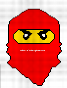 Minecraft Pixel Art Templates Lego Ninjago Red Stitches