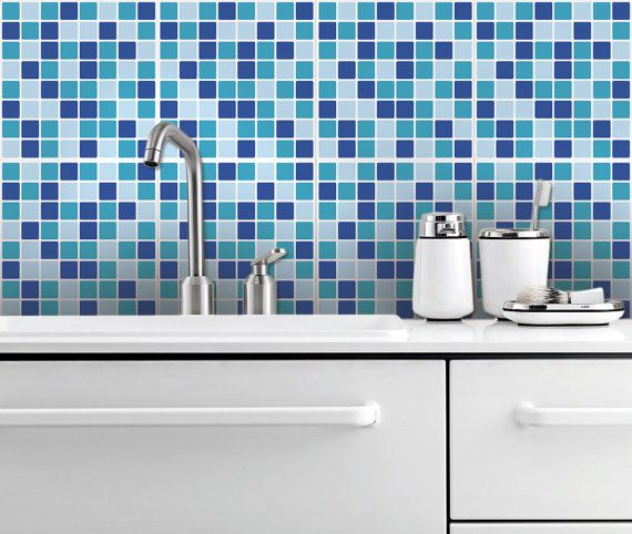 Ocean Mosaic Self Adhesive Tile Stickers Por Homeartstickers