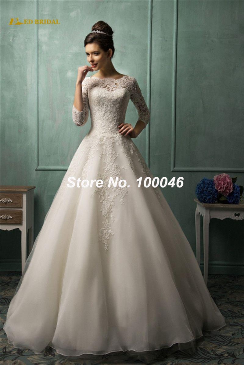 Long sleeve ivory wedding dress  iexpressstoreproductSimpleRobeDeMariee