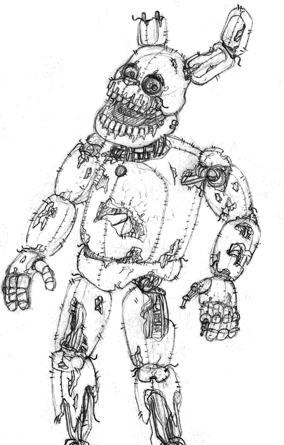Springtrap Fnaf 6 Coloring Pages Coloring Pages Inspirational Coloring Pages Spring Coloring Pages