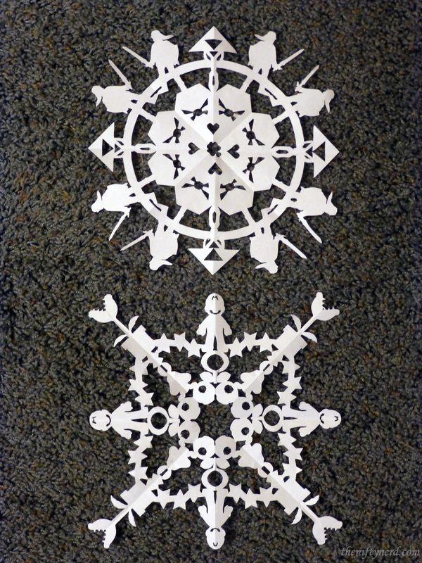 DIY Mario \ Legend of Zelda Snowflake Printable Patterns -via The - snowflake template