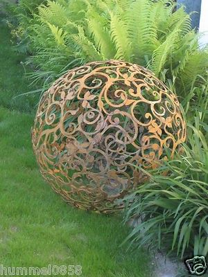 Edelrost Barockkugel 80 cm Kugel Rost Eisen Metall Deko Gartendeko - gartendeko aus metall selber machen