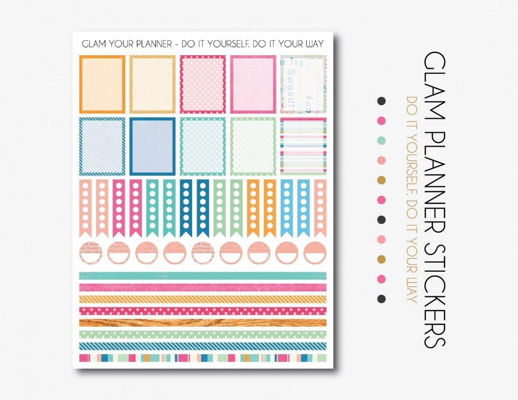 picture relating to Free Planner Sticker Printables named No cost Printable Spring Planner Stickers by means of Glam Planner