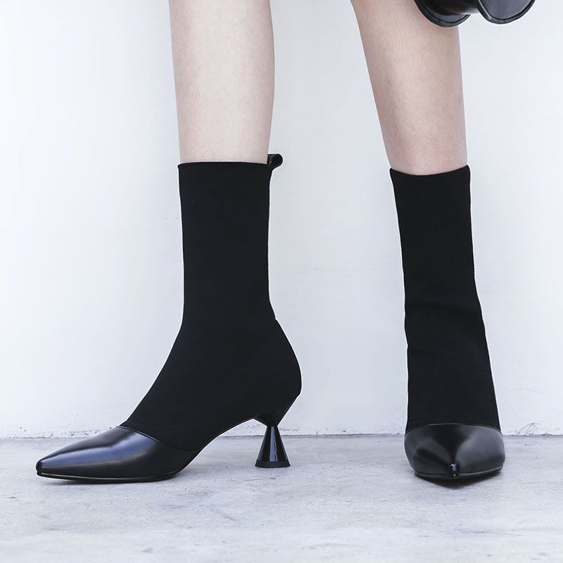 9cf63027ee8 Chiko Bede Pull On Sock Boots feature pointy toe