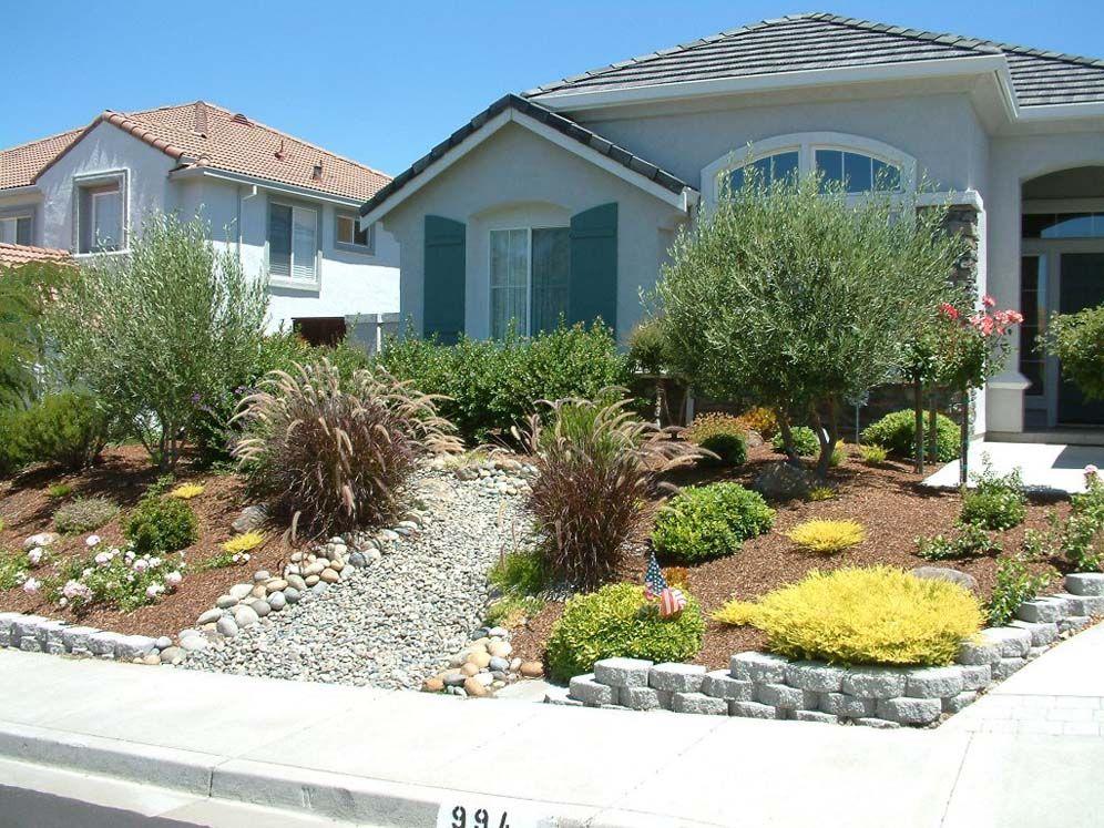dry creek bed front yard garden front yard landscaping. Black Bedroom Furniture Sets. Home Design Ideas