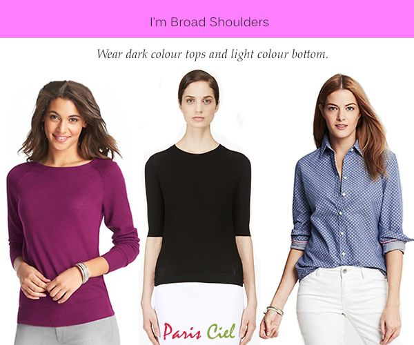 80e18ad85a Inverted triangle body shape  Dark colour like black is known to make you look  smaller