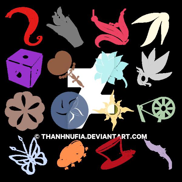 Commission: RWBY OC Symbols by ThanhnuFia on DeviantArt