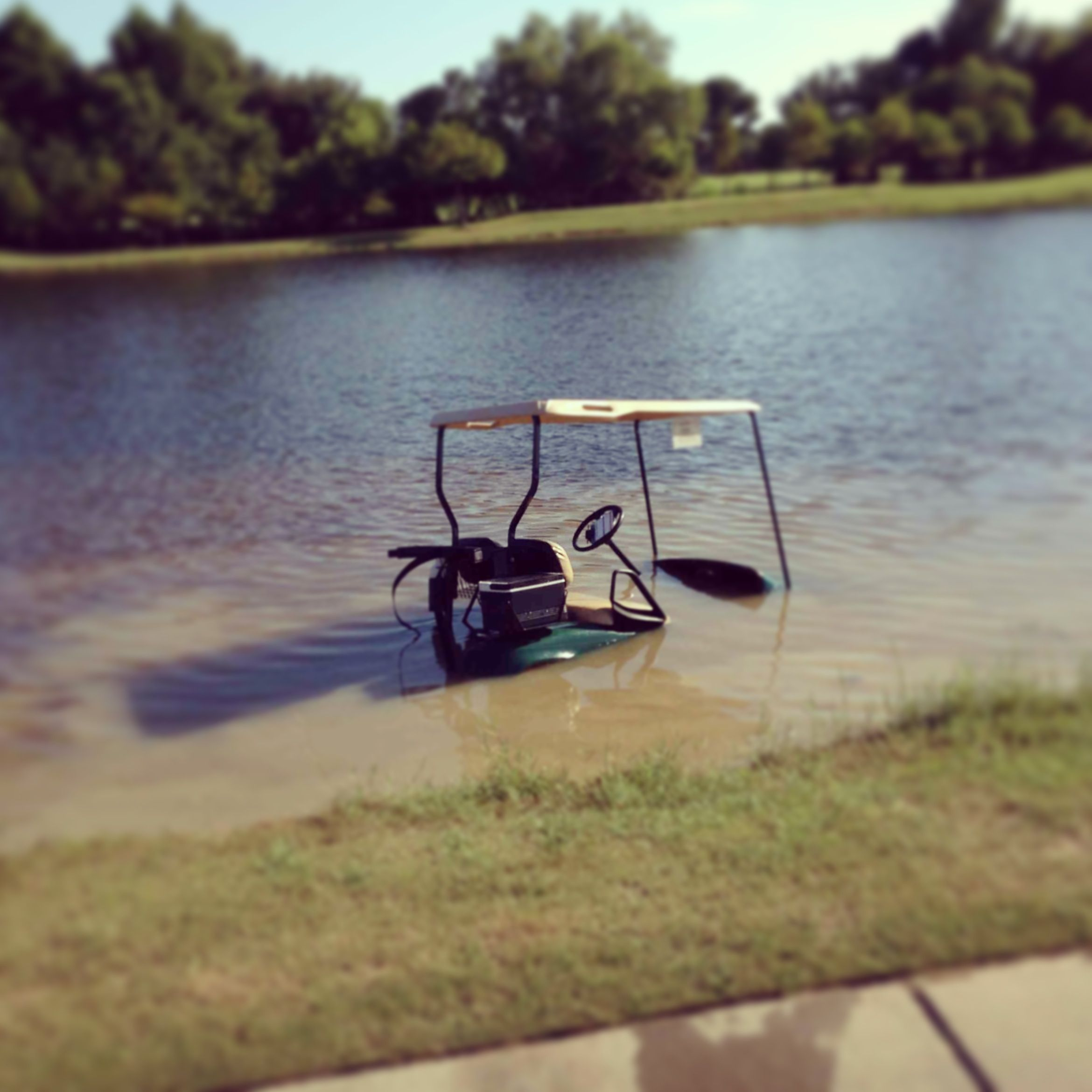 Aqua Golf Cart Golf Humor Pinterest